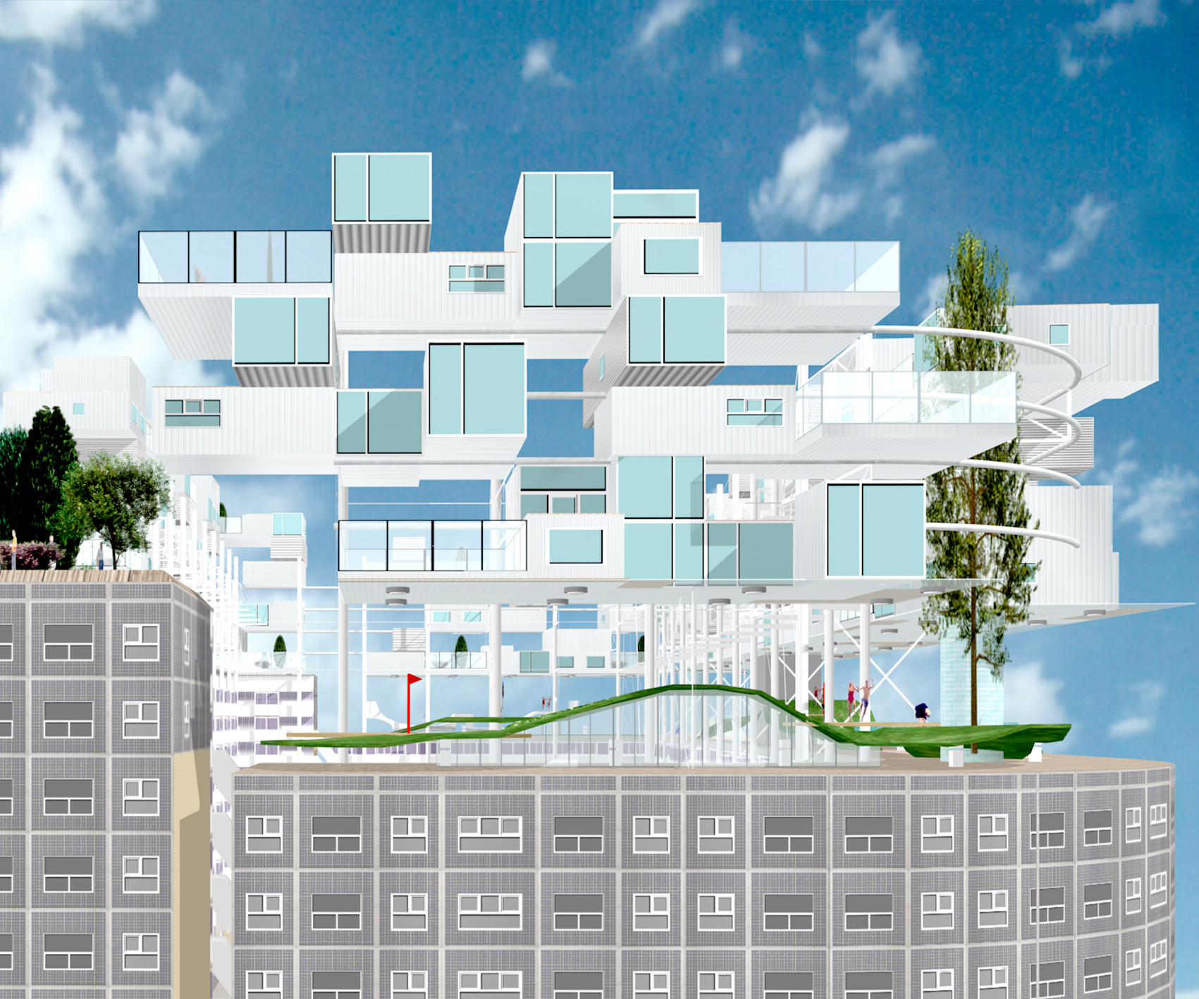 Architectenbureau Den Haag : Luchtgebonden woningen zwarte madonna archipelontwerpers